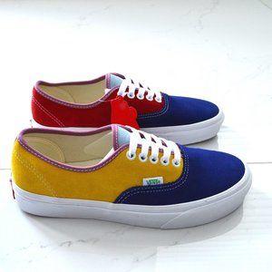 vans authentic sunshine multi/ white sneaker shoes